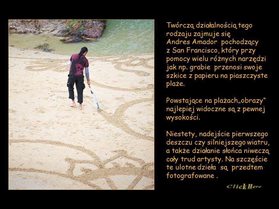 Twórczą działalnością tego rodzaju zajmuje się Andres Amador pochodzący z San Francisco, który przy pomocy wielu różnych narzędzi jak np.