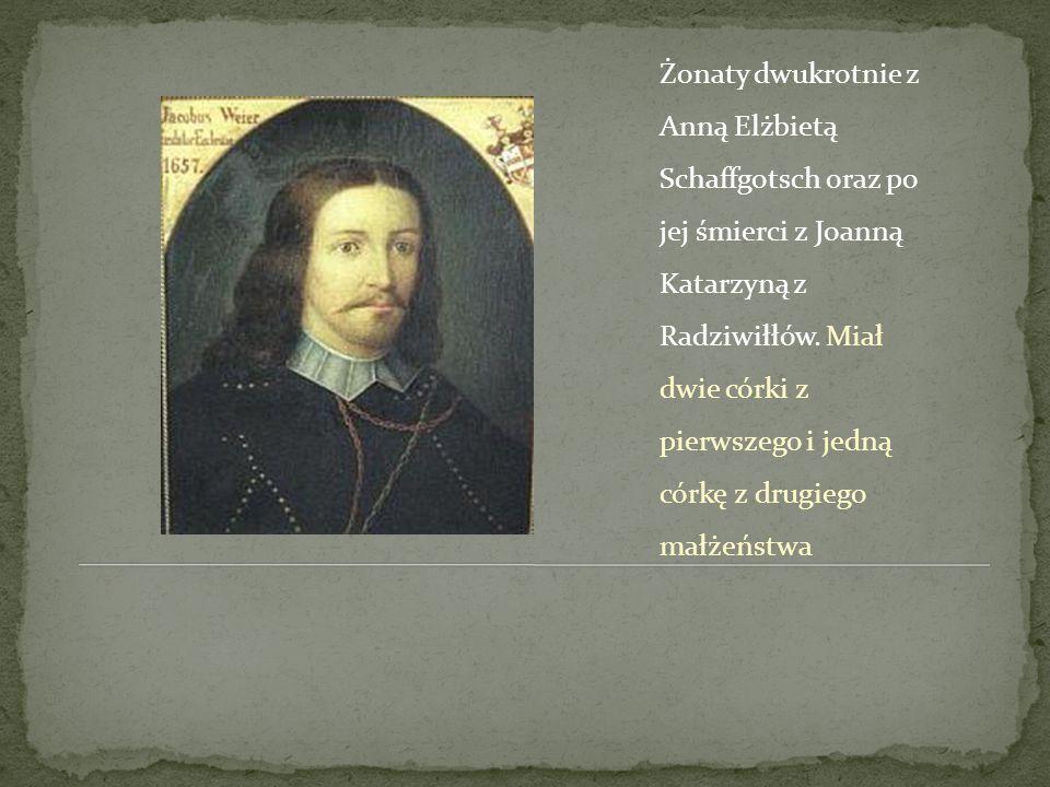 Żonaty dwukrotnie z Anną Elżbietą Schaffgotsch oraz po jej śmierci z Joanną Katarzyną z Radziwiłłów. Miał dwie córki z pierwszego i jedną córkę z drug