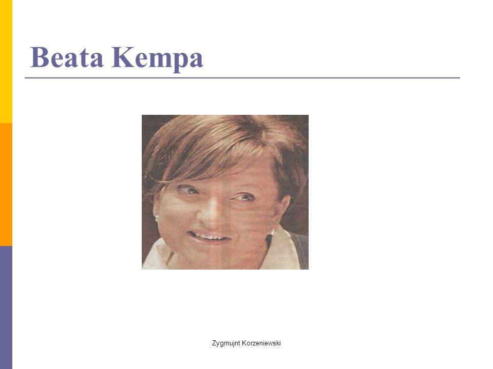 Beata Kempa Zygmujnt Korzeniewski