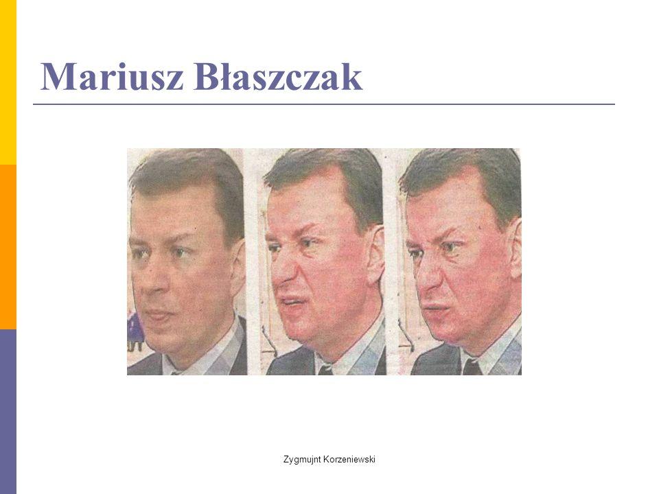 Mariusz Błaszczak Zygmujnt Korzeniewski