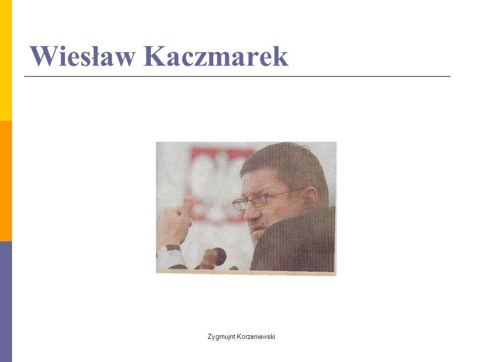 Wiesław Kaczmarek Zygmujnt Korzeniewski