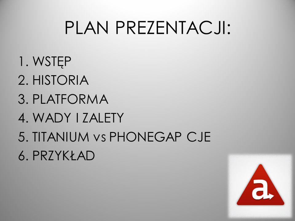 PLAN PREZENTACJI: 1. WSTĘP 2. HISTORIA 3. PLATFORMA 4.