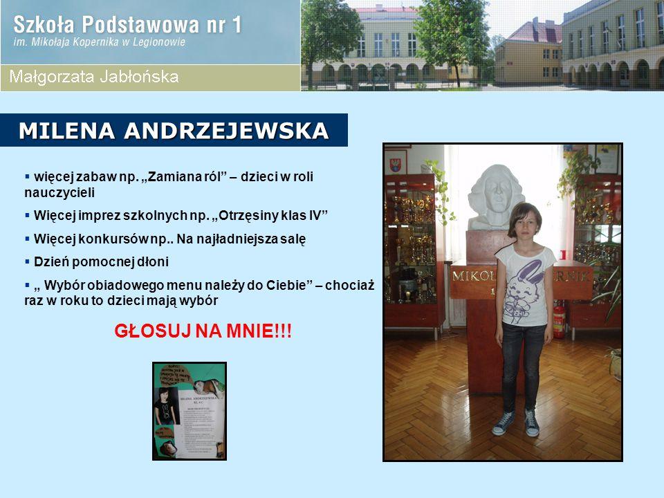 KANDYDACI Z KLASY 4D  Magda Kacprzak  Aleksandra Nowakowska  Wiktoria Prześlica