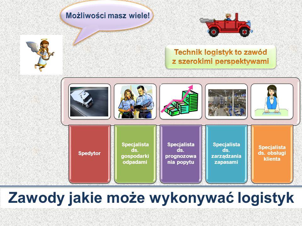 Zawody jakie może wykonywać logistyk Spedytor Specjalista ds.