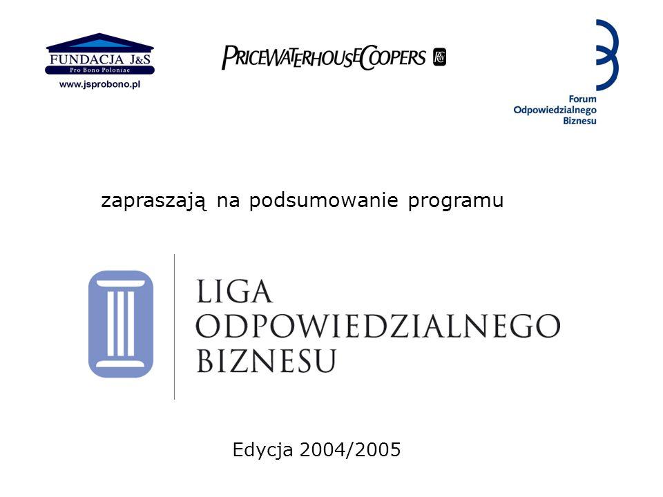 zapraszają na podsumowanie programu Edycja 2004/2005