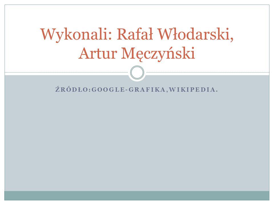 ŹRÓDŁO:GOOGLE-GRAFIKA,WIKIPEDIA. Wykonali: Rafał Włodarski, Artur Męczyński