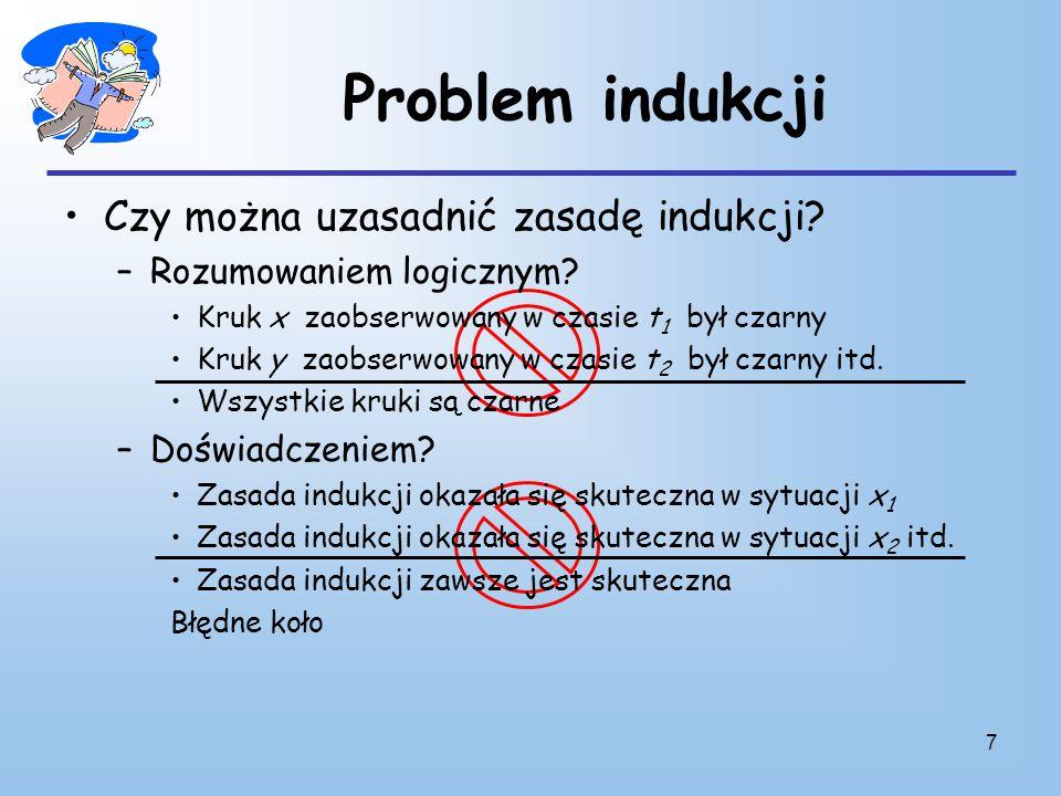 7 Problem indukcji Czy można uzasadnić zasadę indukcji.