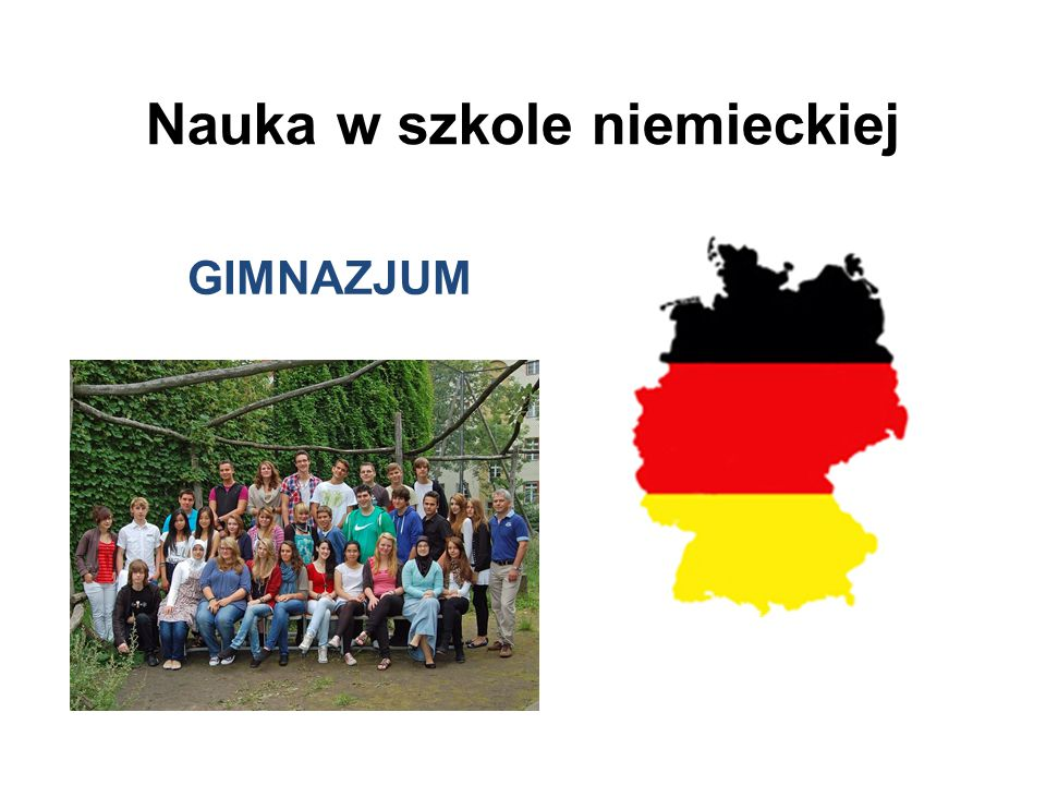 Nauka w szkole niemieckiej GIMNAZJUM