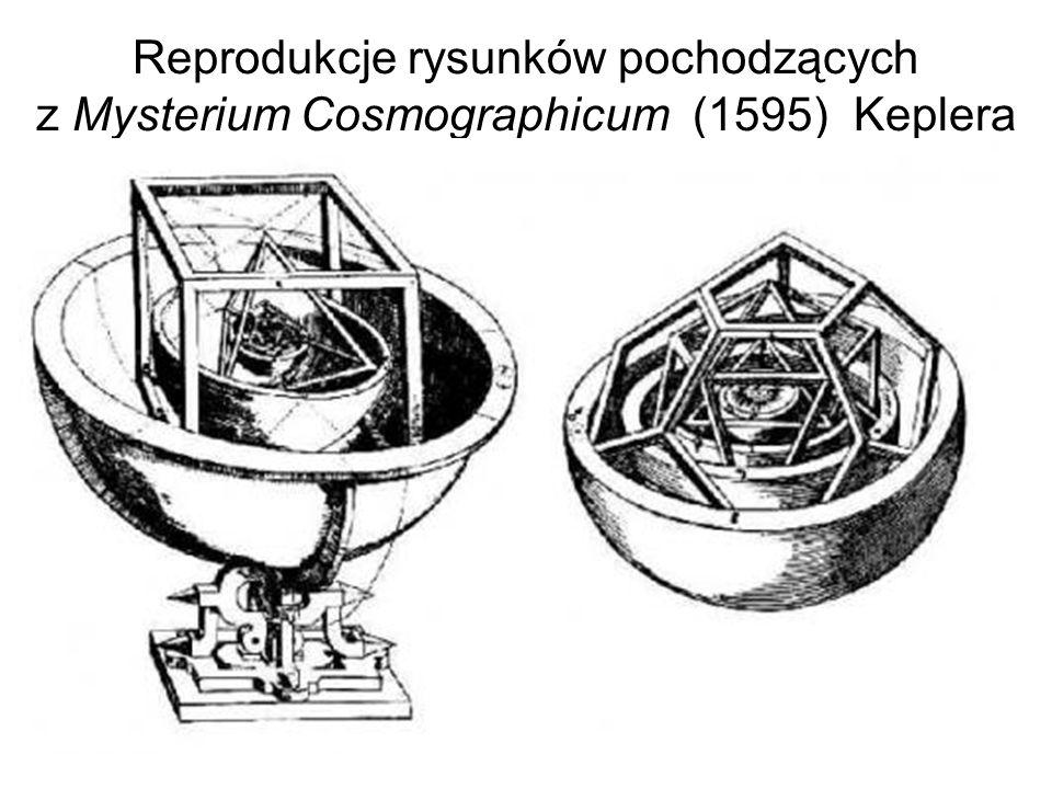 Reprodukcje rysunków pochodzących z Mysterium Cosmographicum (1595) Keplera