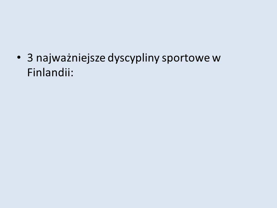 3 najważniejsze dyscypliny sportowe w Finlandii: