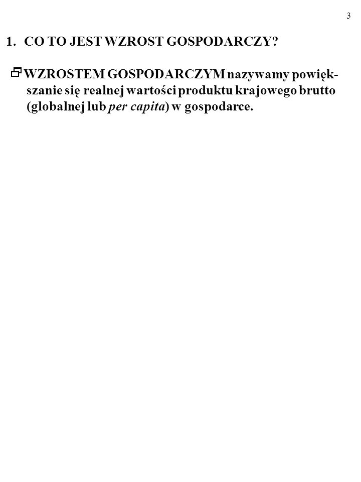 93 C. PAŃSTWO WPŁYWA NA PODAŻ W GOSPODARCE CD. ang. supply side policies)