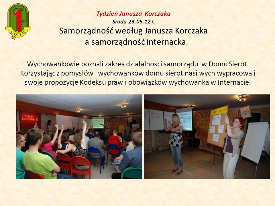 Tydzień Janusza Korczaka Środa 23.05.12 r.