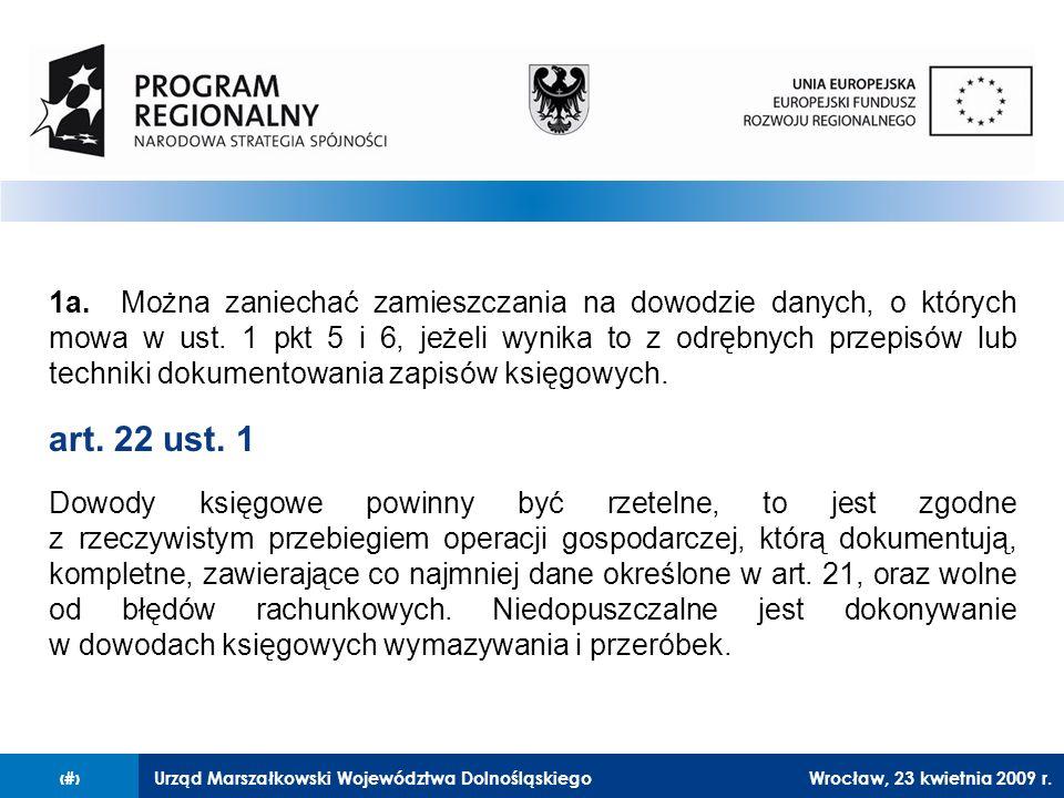 Urząd Marszałkowski Województwa Dolnośląskiego27 lutego 2008 r.23 1a.