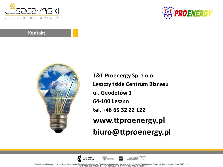 T&T Proenergy Sp. z o.o. Leszczyńskie Centrum Biznesu ul.