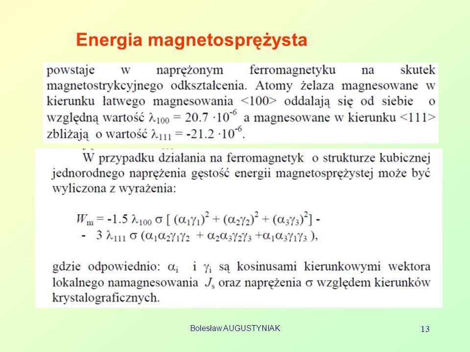 Bolesław AUGUSTYNIAK 13 Energia magnetosprężysta