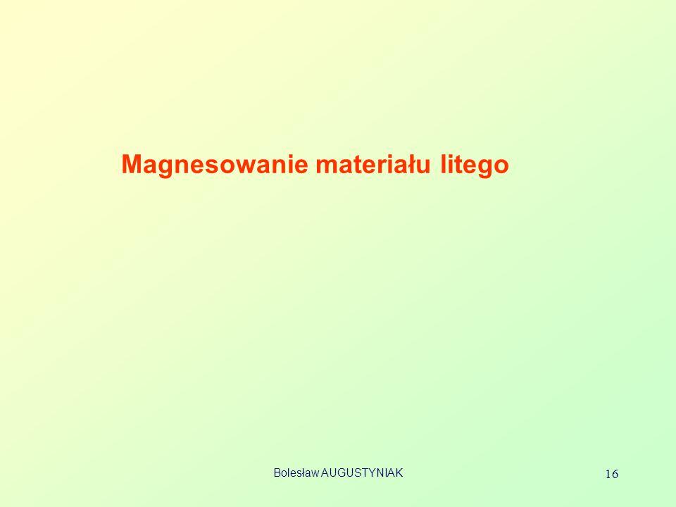 Bolesław AUGUSTYNIAK 16 Magnesowanie materiału litego