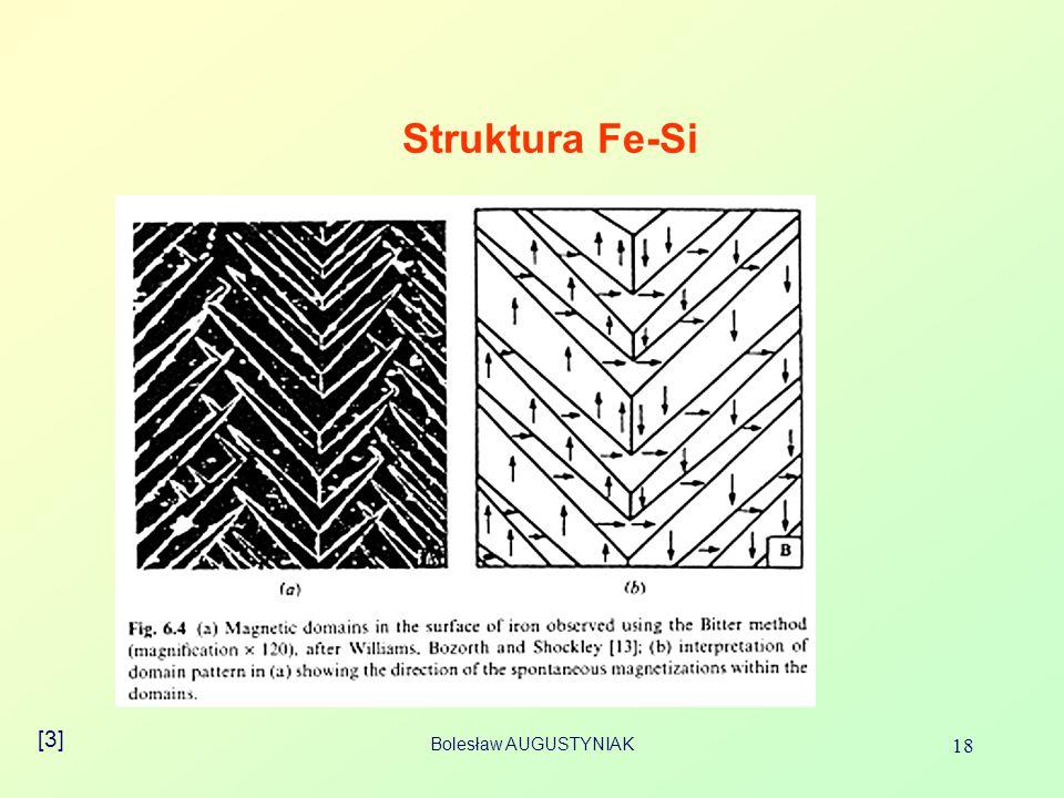 Bolesław AUGUSTYNIAK 18 Struktura Fe-Si [3]