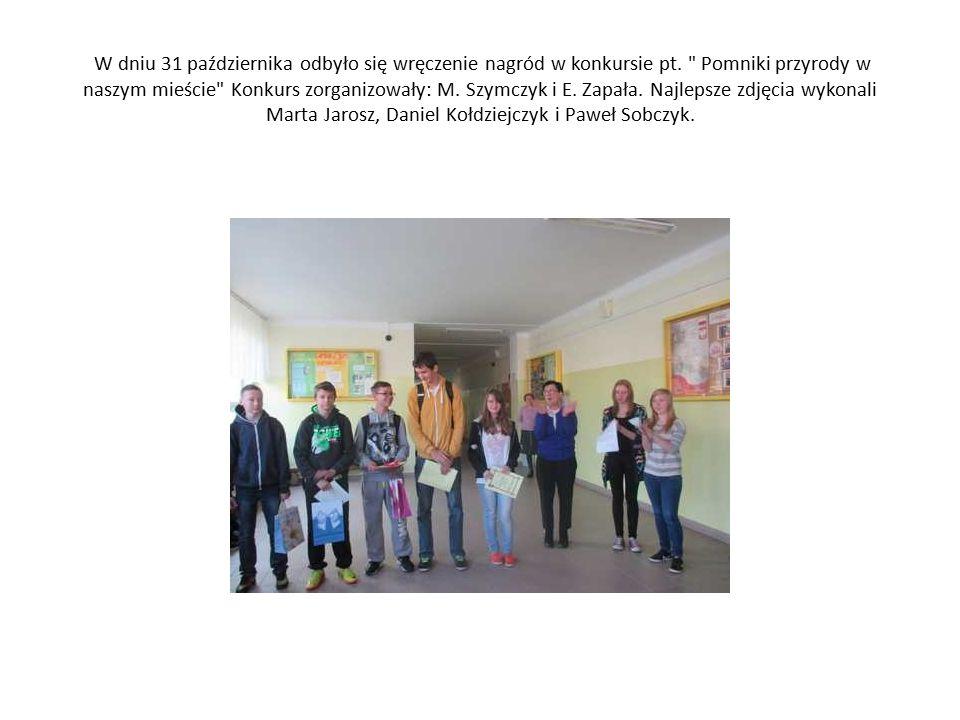 W dniu 31 października odbyło się wręczenie nagród w konkursie pt.