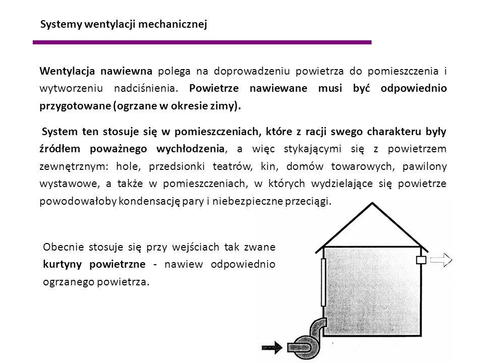 Wentylacja nawiewna polega na doprowadzeniu powietrza do pomieszczenia i wytworzeniu nadciśnienia. Powietrze nawiewane musi być odpowiednio przygotowa