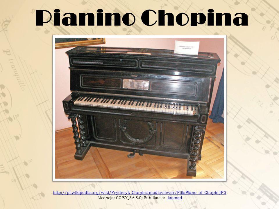 Pianino Chopina http://pl.wikipedia.org/wiki/Fryderyk_Chopin#mediaviewer/Plik:Piano_of_Chopin.JPG http://pl.wikipedia.org/wiki/Fryderyk_Chopin#mediaviewer/Plik:Piano_of_Chopin.JPG Licencja: CC BY_SA 3.0, Publikacja: Janmad Janmad