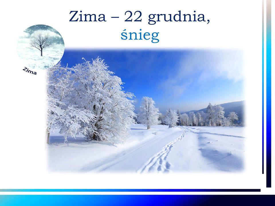 Zima – 22 grudnia, śnieg