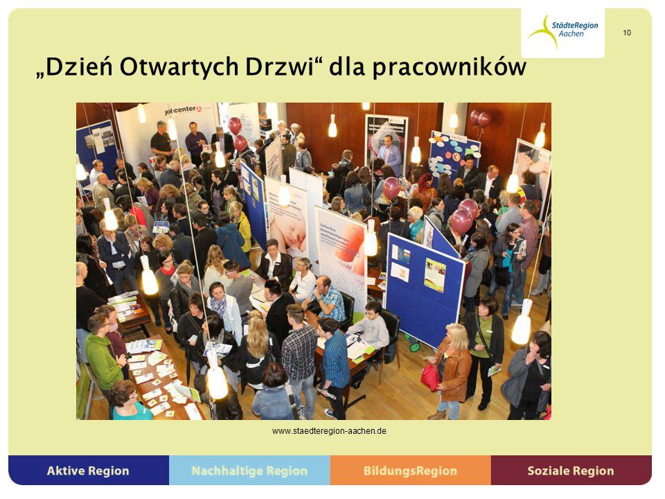 """""""Dzień Otwartych Drzwi"""" dla pracowników www.staedteregion-aachen.de 10"""