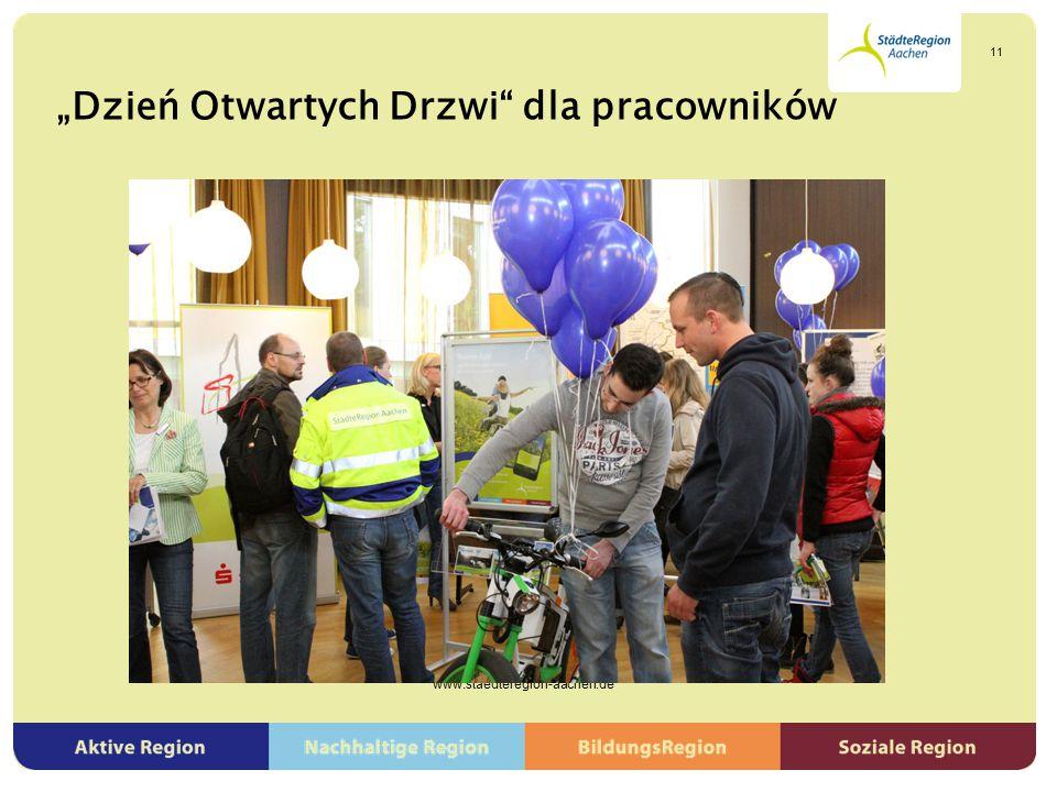 """""""Dzień Otwartych Drzwi"""" dla pracowników www.staedteregion-aachen.de 11"""