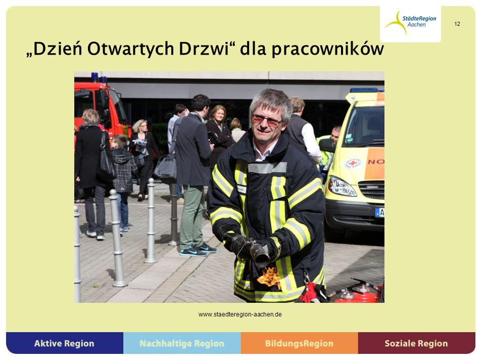 """""""Dzień Otwartych Drzwi"""" dla pracowników www.staedteregion-aachen.de 12"""