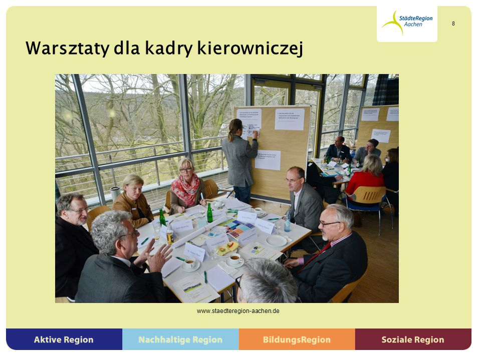 Warsztaty dla kadry kierowniczej www.staedteregion-aachen.de 8