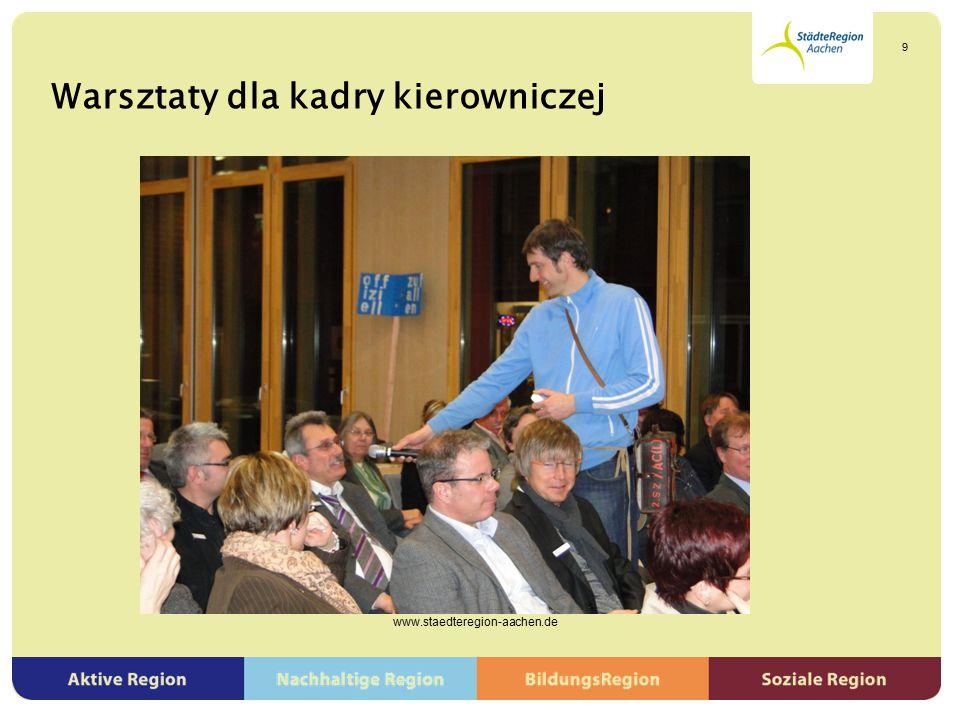 """""""To jest możliwe! – Warsztaty partycypacji młodzieży i polityki młodzieżowej www.staedteregion-aachen.de 20"""