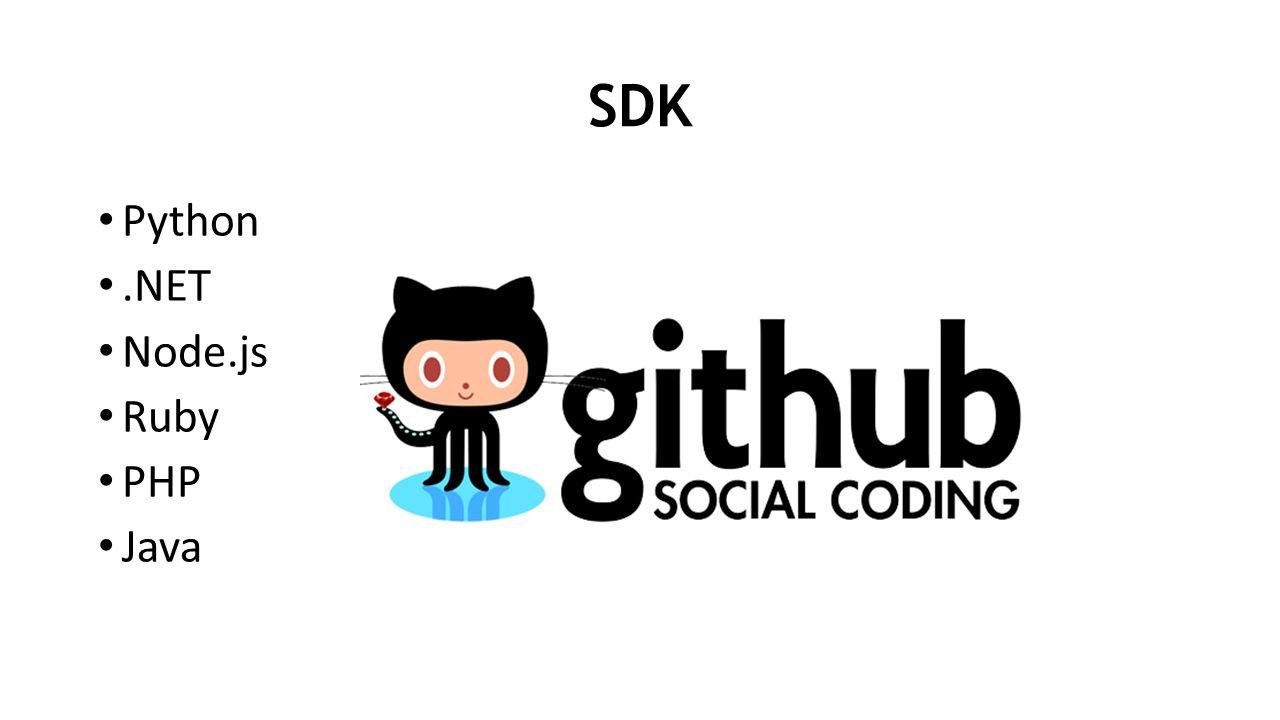 SDK Python.NET Node.js Ruby PHP Java