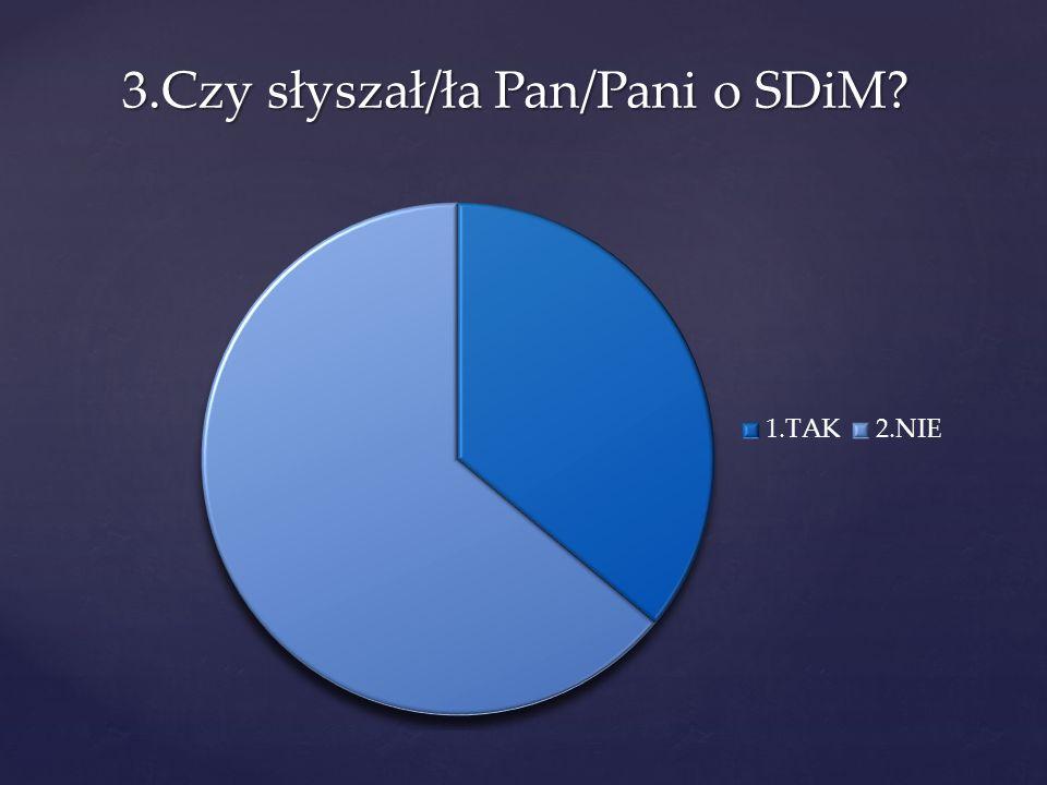 3.Czy słyszał/ła Pan/Pani o SDiM?