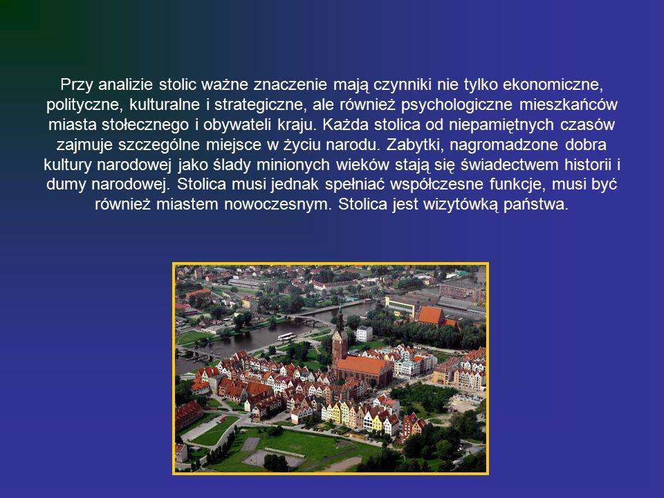 Przy analizie stolic ważne znaczenie mają czynniki nie tylko ekonomiczne, polityczne, kulturalne i strategiczne, ale również psychologiczne mieszkańców miasta stołecznego i obywateli kraju.