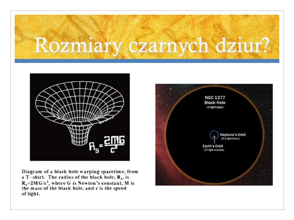 Rozmiary czarnych dziur