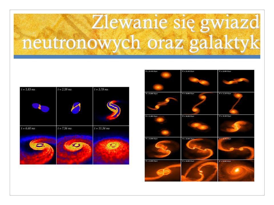 Zlewanie si ę gwiazd neutronowych oraz galaktyk