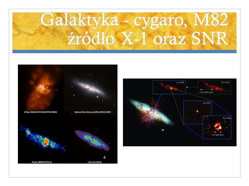 Galaktyka - cygaro, M82 ź ród ł o X-1 oraz SNR