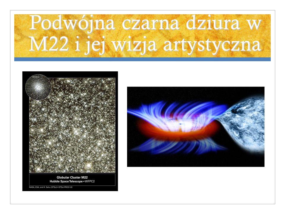 Podwójna czarna dziura w M22 i jej wizja artystyczna