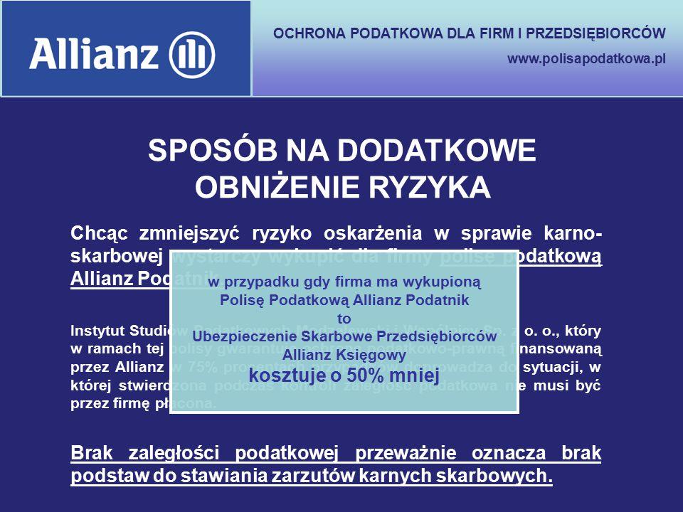 OCHRONA PODATKOWA DLA FIRM I PRZEDSIĘBIORCÓW www.polisapodatkowa.pl Brak zaległości podatkowej przeważnie oznacza brak podstaw do stawiania zarzutów k
