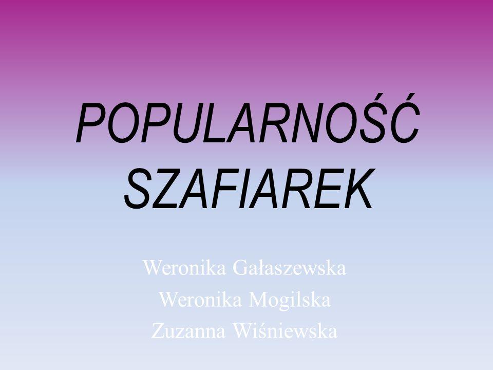 POPULARNOŚĆ SZAFIAREK Weronika Gałaszewska Weronika Mogilska Zuzanna Wiśniewska