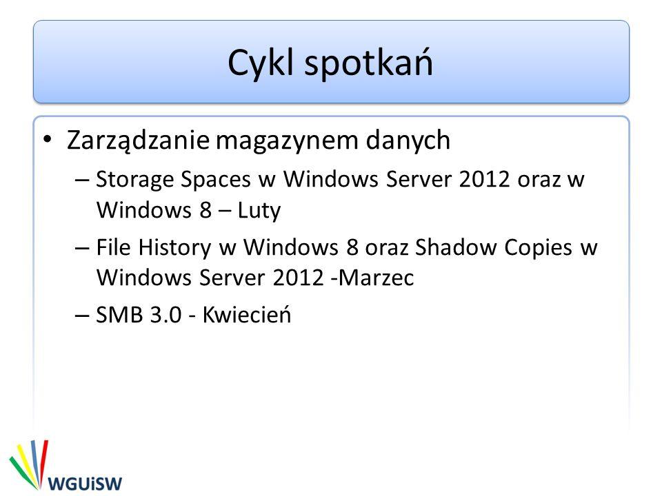 Agenda Omówienie File History Integracja z Grupą domową Demo Omówienie Shadow Copies of Shared Folders Demo
