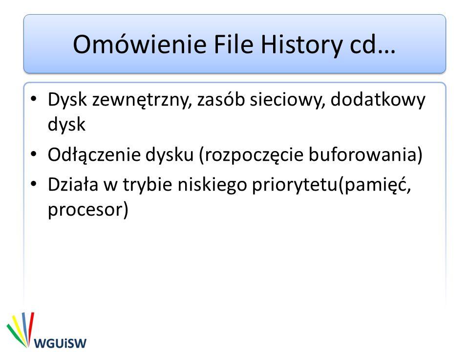 Wyłączenie File History