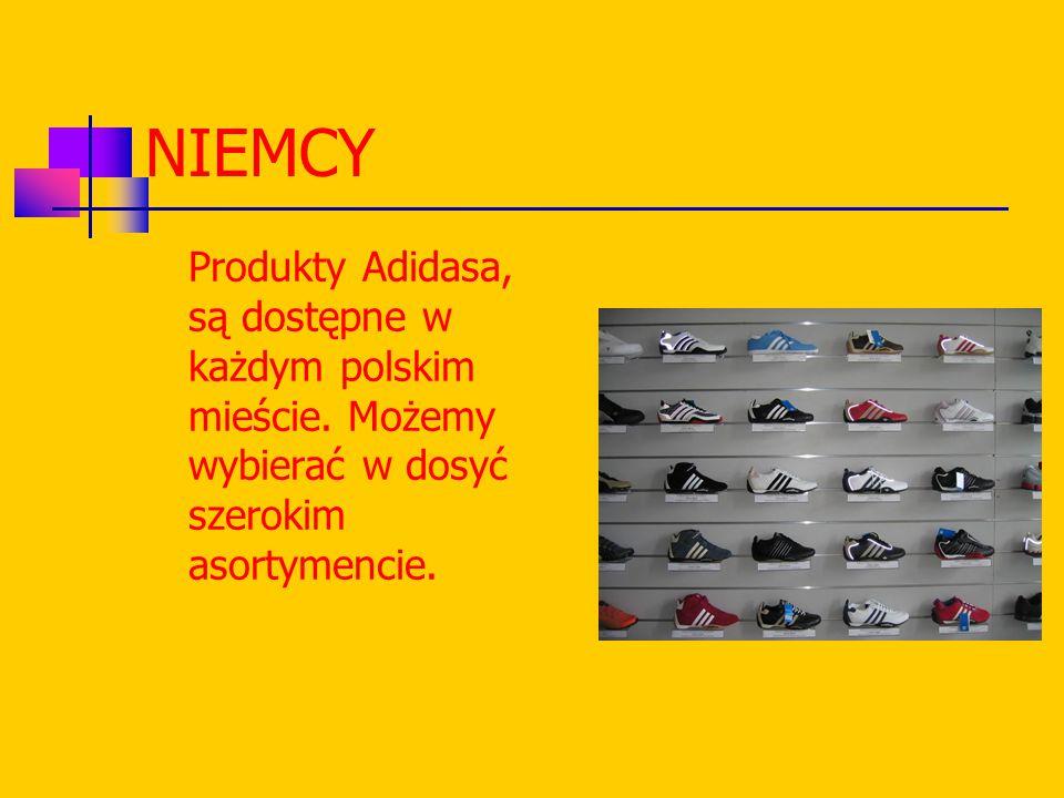 NIEMCY Produkty Adidasa, są dostępne w każdym polskim mieście.