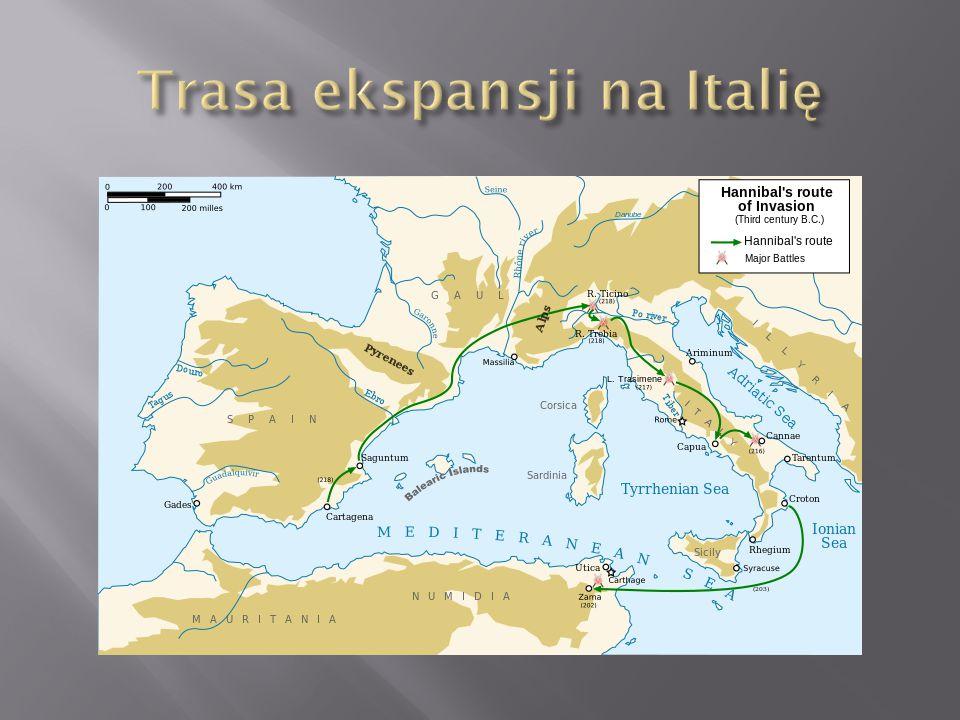Po zajęciu Saguntu Hannibal wyruszył przez Alpy z 60-tysięczną armią na Rzym.