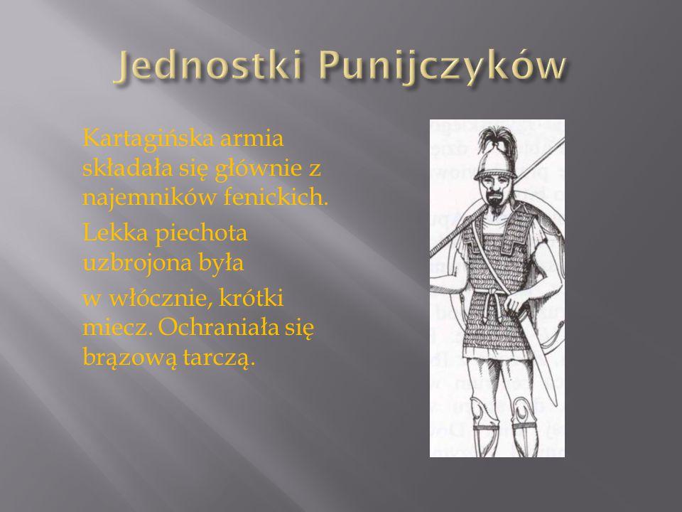 Szyk Bojowy Kartagińczyków był podobny do greckiej falangi.
