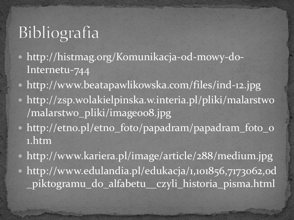 http://histmag.org/Komunikacja-od-mowy-do- Internetu-744 http://www.beatapawlikowska.com/files/ind-12.jpg http://zsp.wolakielpinska.w.interia.pl/pliki