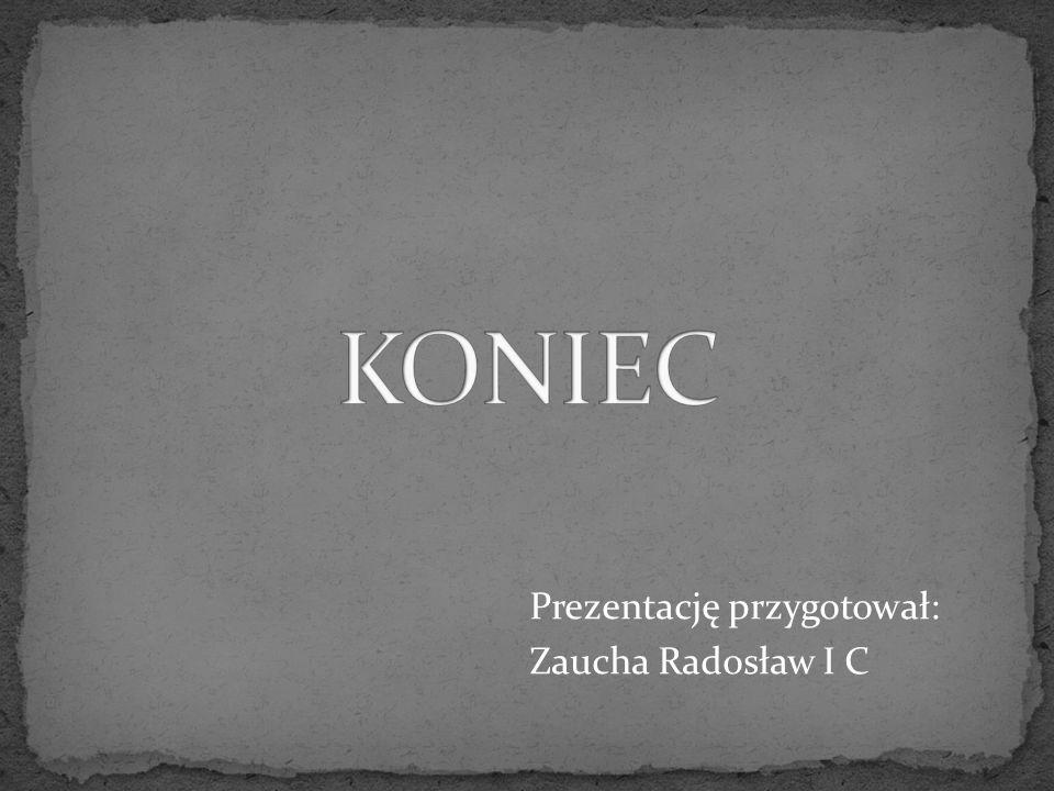 Prezentację przygotował: Zaucha Radosław I C