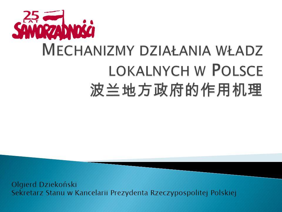 8 marca 1990 uchwalenie ustawy o samorządzie terytorialnym 1993ratyfikacja Europejskiej Karty Samorządu Lokalnego 1996Przejęcie przez samorządy prowadzenia szkół podstawowych 2 kwietnia 1997 uchwalenie Konstytucji RP, która uznaje zasadę samorządności terytorialnej i decentralizacji władzy publicznej za naczelną zasadę ustroju Polski 1998uchwalenie ustaw o samorządzie powiatowym i wojewódzkim 2002sejm uchwalił ustawę o bezpośrednim wyborze wójta, burmistrza i prezydenta miasta 2004akcesja do Unii Europejskiej – impuls dla samorządów do szybszego rozwoju 2005uchwalenie ustawy o Komisji Wspólnej Rządu i Samorządu Terytorialnego oraz o przedstawicielach Rzeczpospolitej Polskiej w Komitecie Regionów UE 2