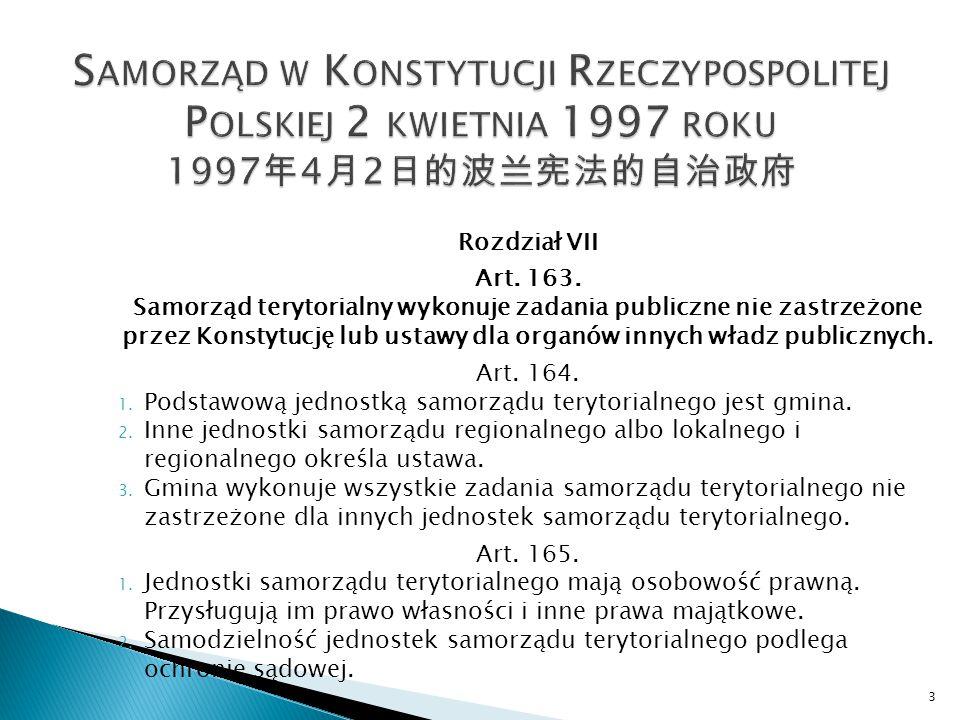 Rozdział VII Art. 163.