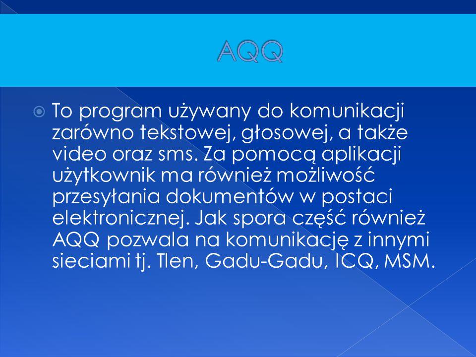  To program używany do komunikacji zarówno tekstowej, głosowej, a także video oraz sms. Za pomocą aplikacji użytkownik ma również możliwość przesyłan