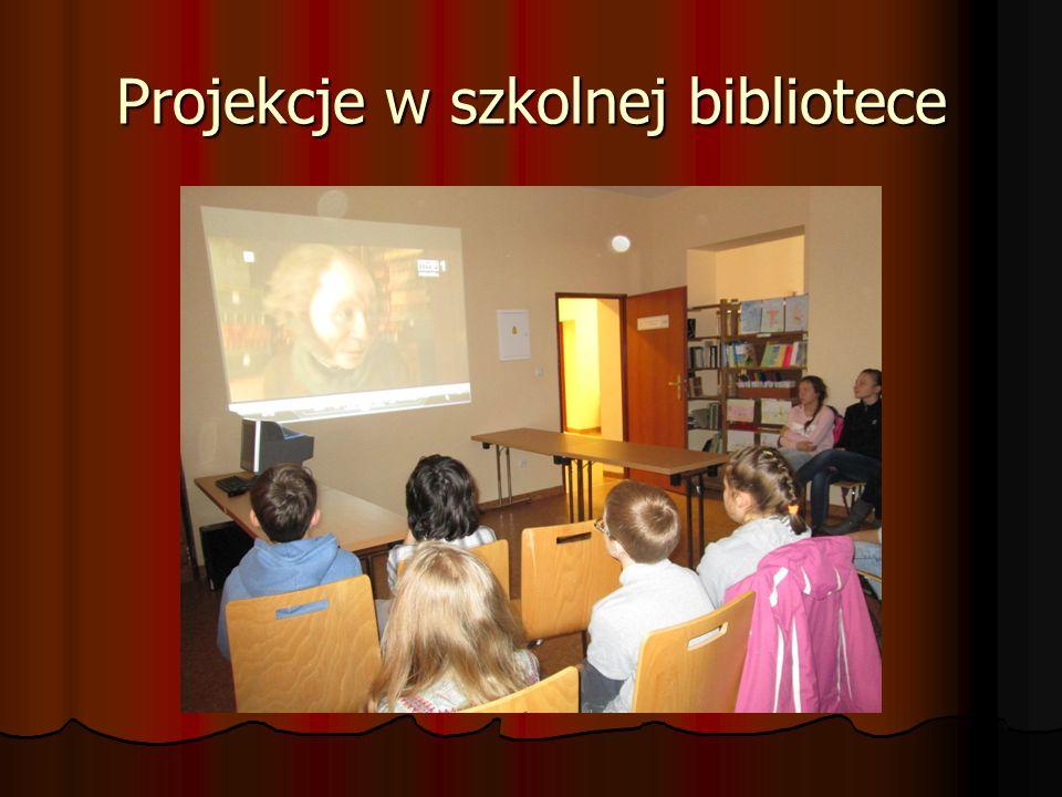 Projekcje w szkolnej bibliotece